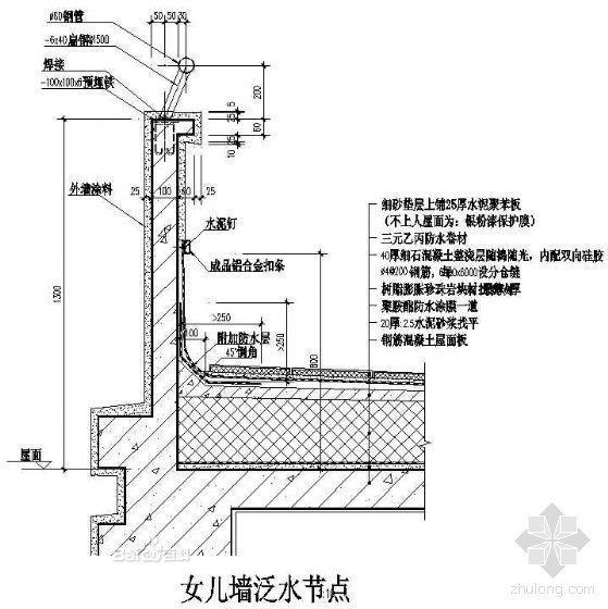 屋面变形缝之屋面泛水2
