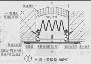 盖板型外墙变形缝的做法之QBT2