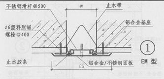 盖板型外墙变形缝的做法之QBT4