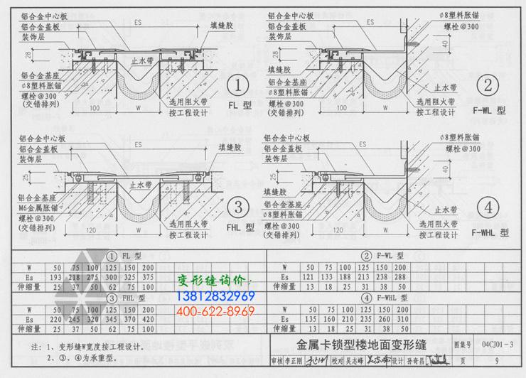 地面变形缝的说明及地面变形缝做法4