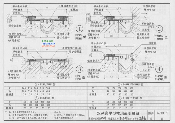 地面变形缝的说明及地面变形缝做法5
