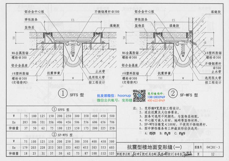 地面变形缝的说明及地面变形缝做法7