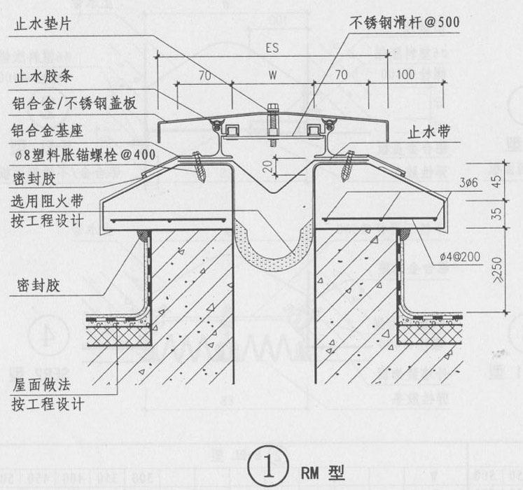 屋面变形缝图集R-WM