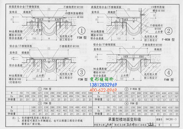 变形缝图集04CJ01-3P8