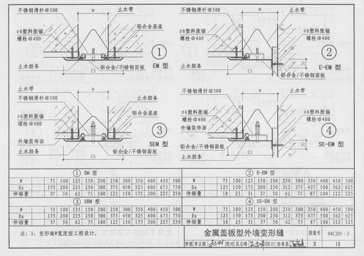 外墙变形缝图集及外墙伸缩缝图集10