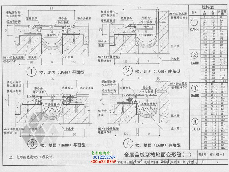 04CJ01-1 变形缝建筑构造(一)  第7页