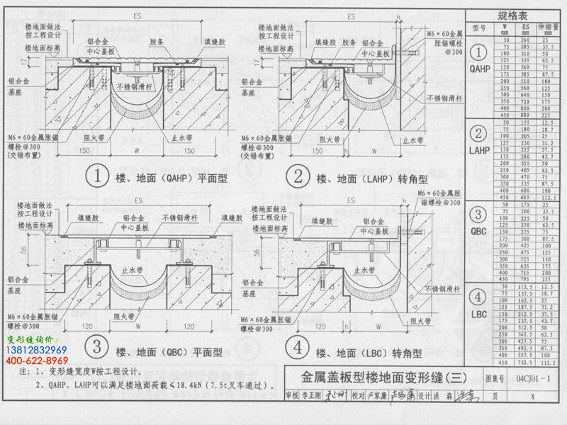 04CJ01-1 变形缝建筑构造(一)  第8页