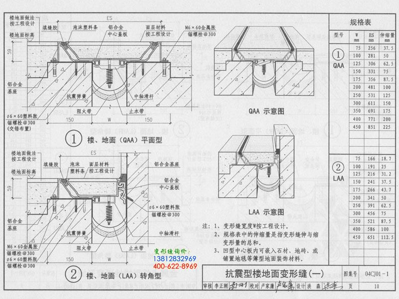 04CJ01-1 变形缝建筑构造(一)  第10页