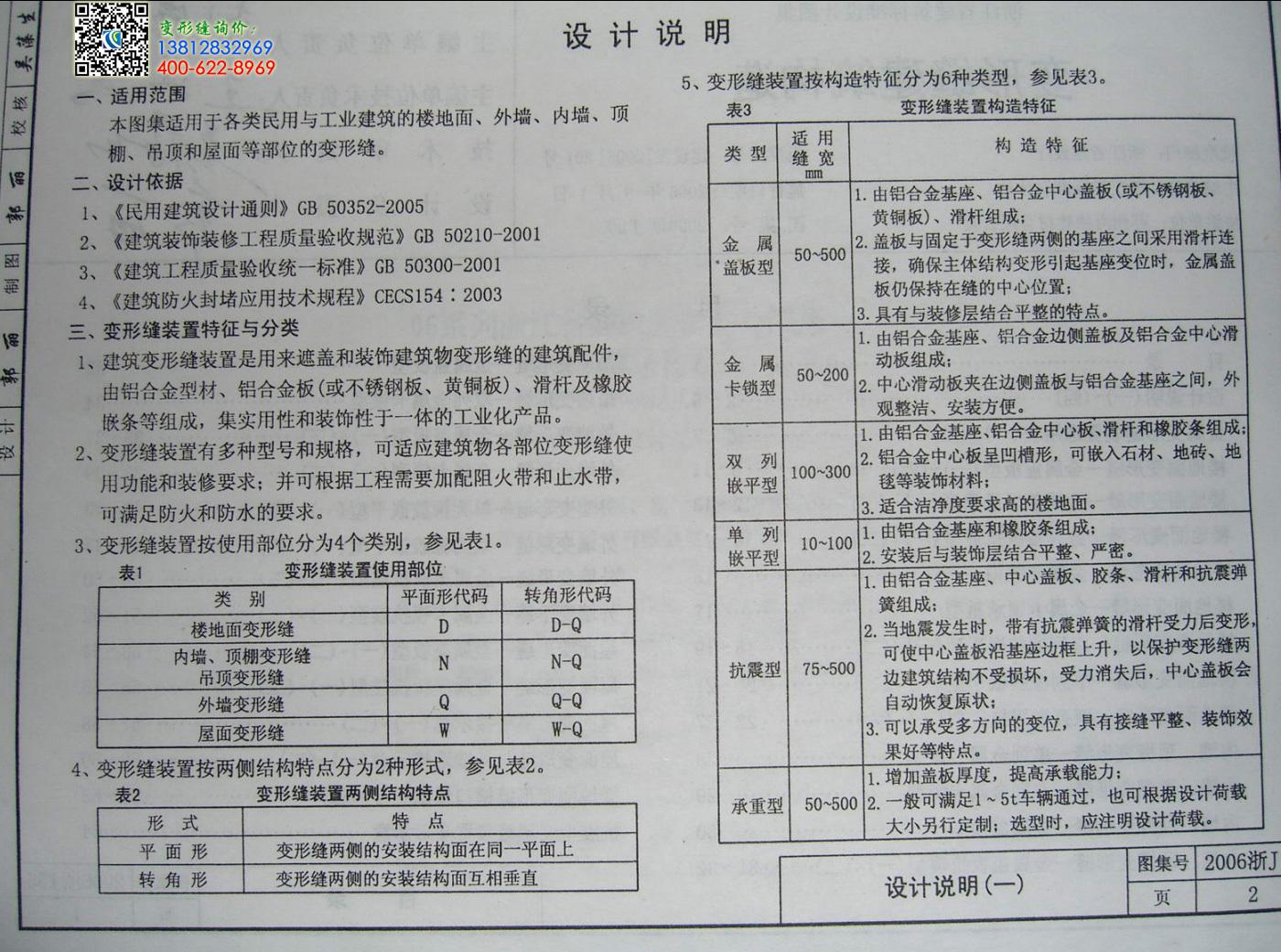 2006浙j55变形缝图集第2页