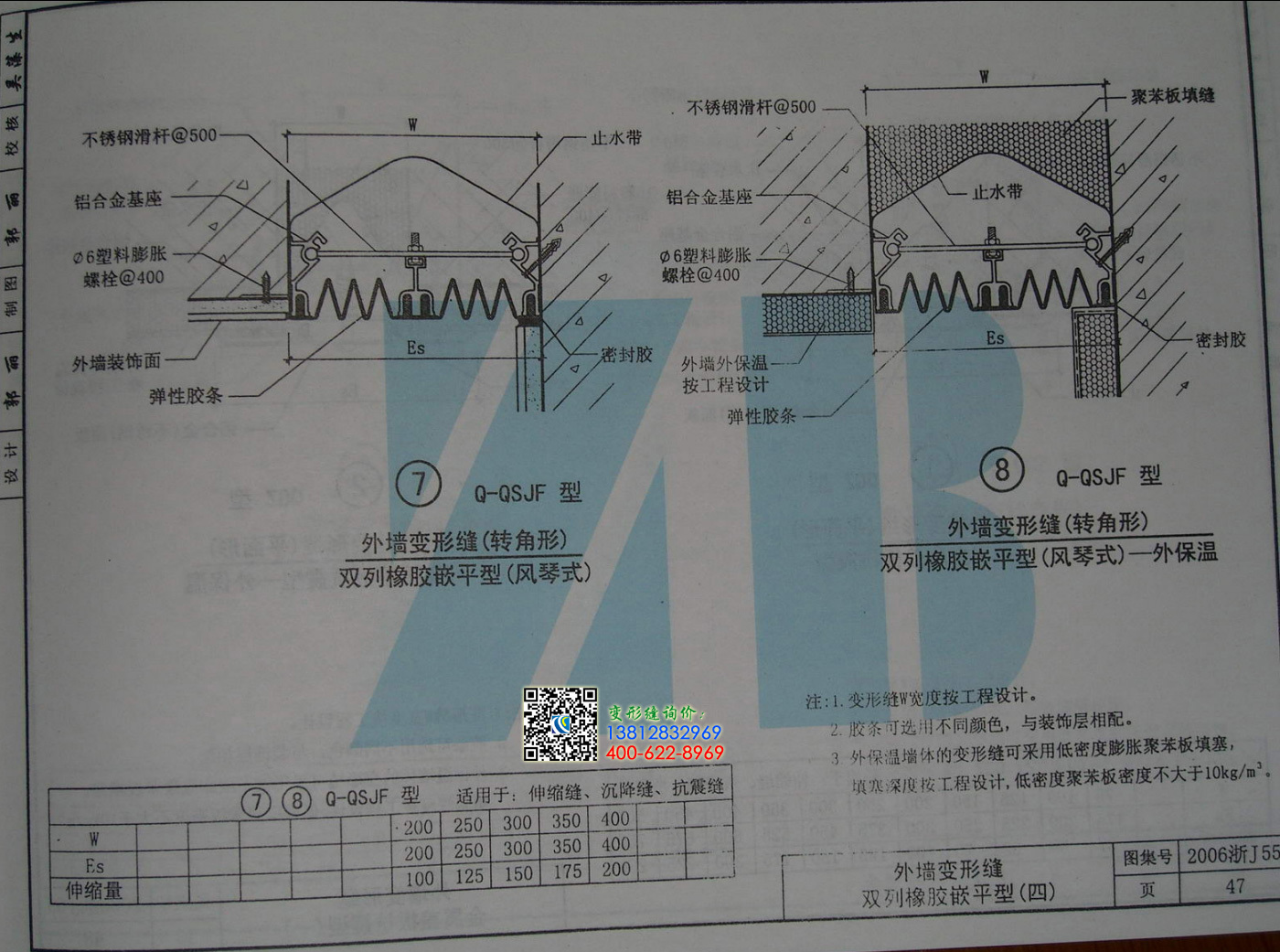 2006浙j55变形缝图集第47页
