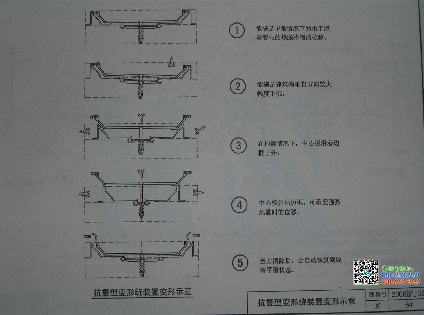 2006浙j55变形缝图集第64页