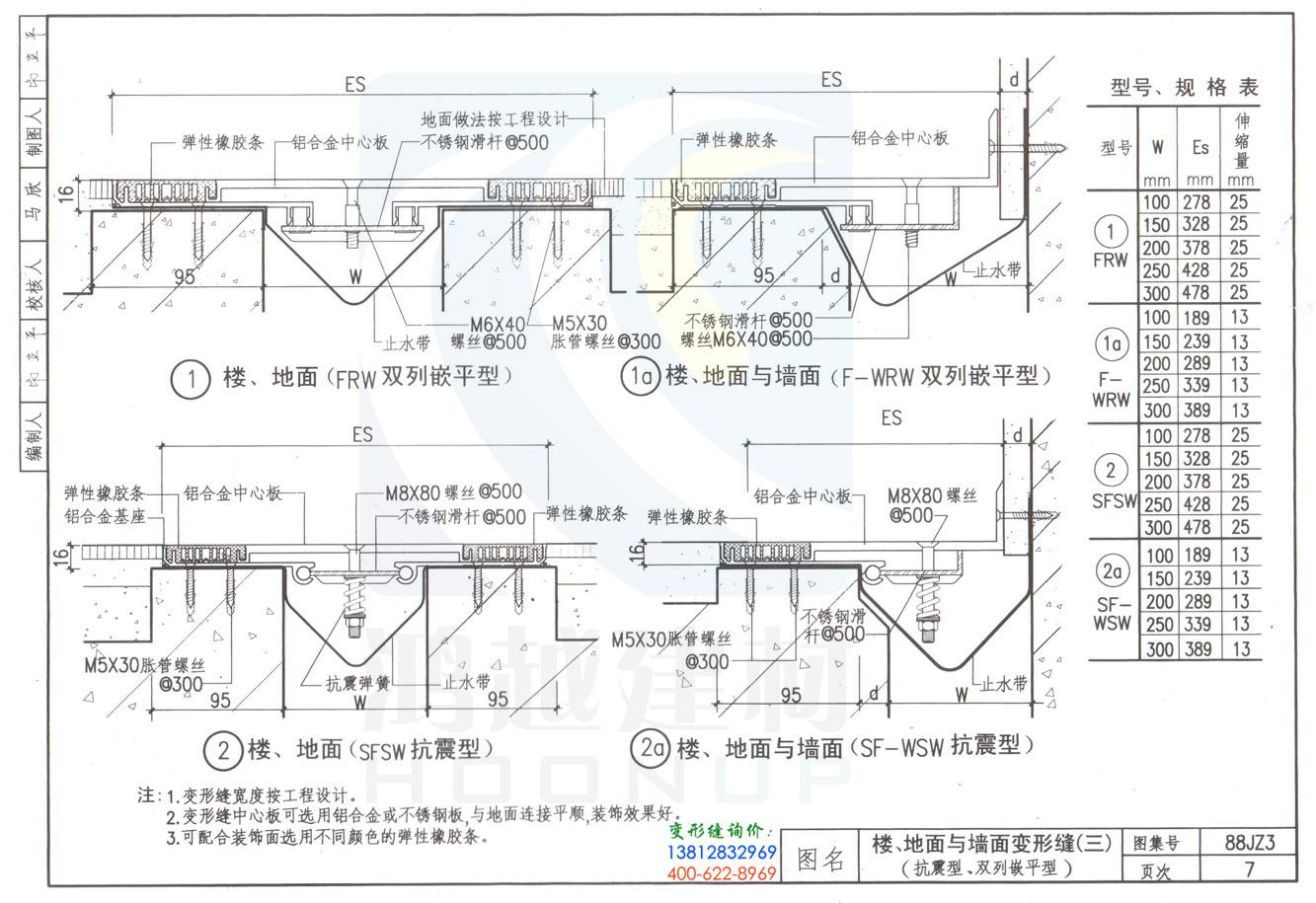 88JZ3变形缝图集第7页