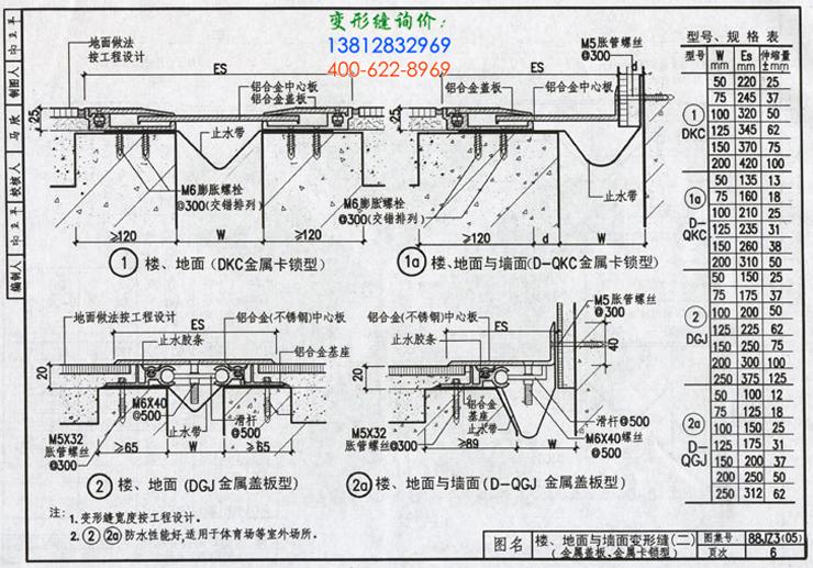 88JZ3(05)变形缝图集第6页