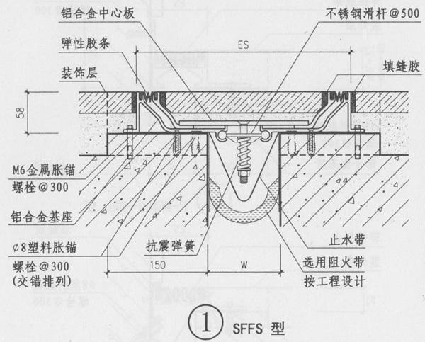 楼地面变形缝抗震型SFFS图集