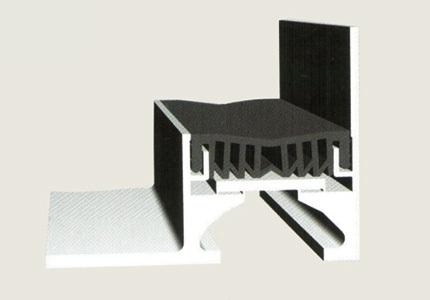 地面变形缝 单列嵌平型 转角 ---- F-WRH / F-WRL