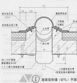 屋面橡胶变形缝QTTL图集做法